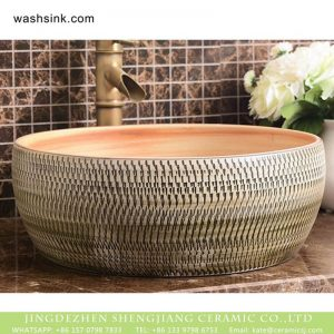 XHTC-X-1017-1 Chinese factory direct art ceramic irregular pattern bathroom washing sink