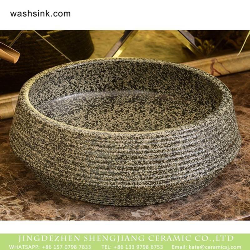 Jingdezhen factory direct square fashional ceramic imitating marble sanitary ware