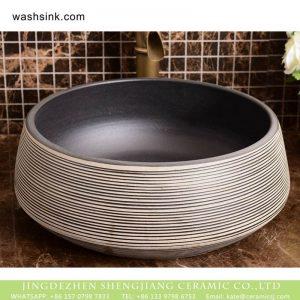 XHTC-X-1038-1 Jingdezhen modern vanity art ceramic with more black lines sanitary ware