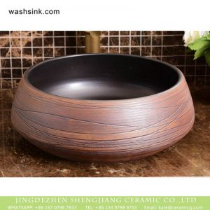 XHTC-X-1050-1 Shengjiang factory wholesale direct black wall and rosewood retro ceramic sanitary ware