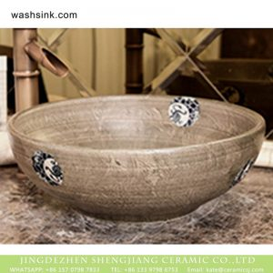 XHTC-X-1069-1 Jingdezhen factory direct traditional retro style and few special pattern sink bowl