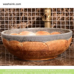 XHTC-X-2072-1 Hot sale Shengjiang factory direct wood color and the edge of stone color wash sink