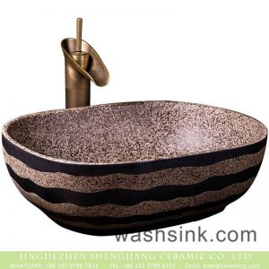 XXDD-41-2 Chinese morden new style brown color with black striations and spots wash hand basin