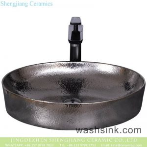 YQ-009-8 Chinese art countertop chrome silver round sanitary ware