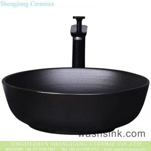 YQ-010-12 Shengjiang factory direct black ceramic round sink bowl