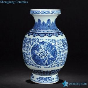 RZLG17 Dragon pattern hand painted Jingdezhen art porcelain vase