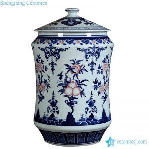 RZLG37 Jingdezhen artist hand paint peach pattern sundry porcelain jar