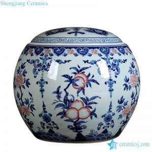 RZLG38 Jiangxi Jingdezhen art painting peach design ceramic jar