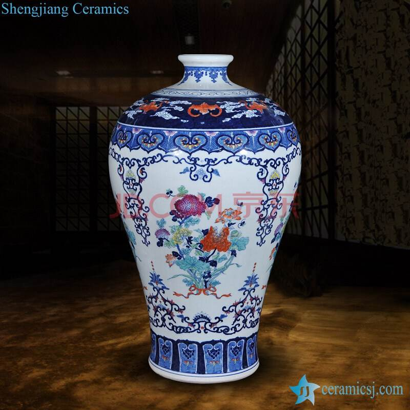 Hand painted beautiful floral ceramic vase