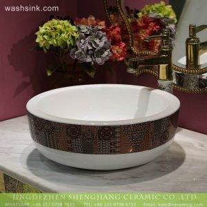 LT-2018-BL3I1374 Modern round above counter basin gold color bathroom Sink