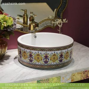 LT-2018-BL3I1411 Colorful art Caremic Bathroom Decorative Sinks Wash Basin