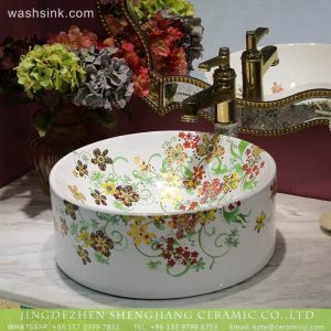 LT-2018-BL3I1473 Jingdezhen factory direct home decoration bathroom ceramic art wash basin wash sink
