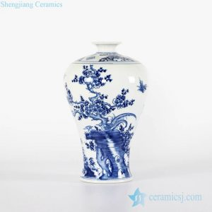 RYCI42-B Antique style blue and white China style royal ceramic Meiping vase