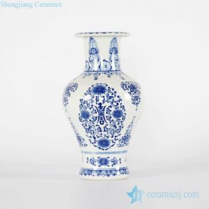RYCI47-A Royal design blue and white hand paint porcelain home decor vase