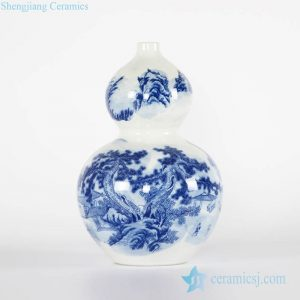 RYCI50-A China calligraphy design calabash shape hot sale porcelain exhibition vase