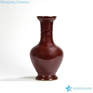 RYPM36 Jingdezhen Soild Color Red narrow long neck elegant ceramic flower vase