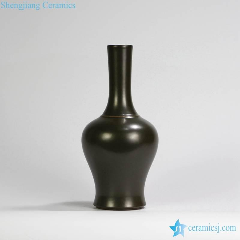 RYPM39 Gloss Green Modern Ceramic Vase For Flowers