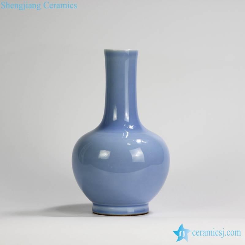 RYPM45 Home decor Jingdezhen Soild Color Blue elegant ceramic flower vase