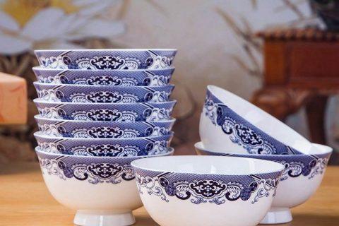 RZKX16-4.5cun-J Blue and white ceramic bowls Set of 10
