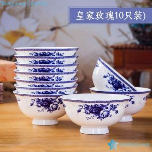 RZKX16-4.5cun-O High quality Blue And White Ceramic Porcelain Bowl Set of 10