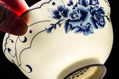 RZKX16-4.5cun-d Wholesale set of 10 the flower pattern blue and white ceramic bowls