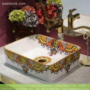 LT-2018-BL3I1500 Rectangle Colored Bathroom Wash Sink Table Top Wash Sink