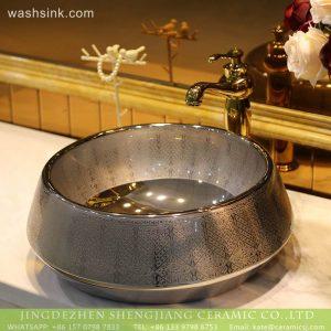 LT-2018-BL3I1644 No Patterm Gun Black Cloor Bathroom Decorative Caremic Sinks Wash Basin