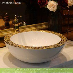 LT-2018-BL3I1665 Jingdezhen modern face sink lavabo porcelain art fancy wash basin