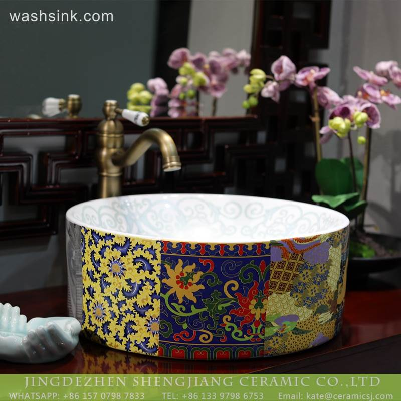 LT-2018-BL3I1856 Factory cheap price Counter top bathroom porcelain wash basin ceramics sinks