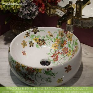LT-2018-BL3I1908 Jingdezhen factory cheap price porcelain wash basin ceramics sinks bathroom decoration