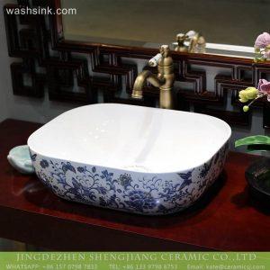 LT-2018-BL3I1946 Jingdezhen ceramic art oval shape sanitary ware wash hand basin sink