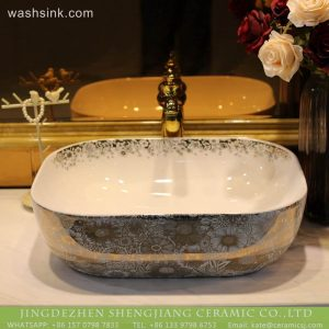 LT-2018-BL3I1956 Sanitary ware bathroom rectangle ceramic art bathroom wash basin