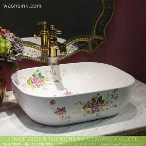 LT-2018-BL3I2006 Jingdezhne New design bathroom hand sink ceramic wash basin