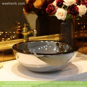 LT-2018-BL3I2186 Jingdezhen sanitary ware bathroom wash basin ceramic wash,flower basin