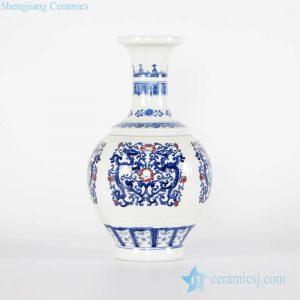 RYCI52-A Online sale blue and white pair dragon pattern porcelain vase