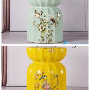 RZKL06-A/B Modern interior design bird floral ceramic medium measurement seat for kids