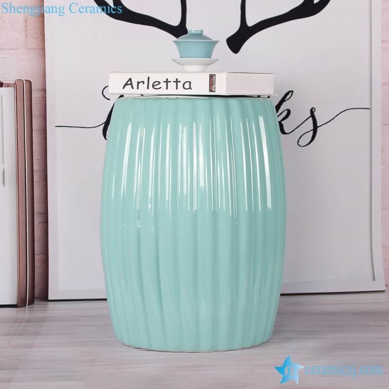 Solid color drape style porcelain barrel seat