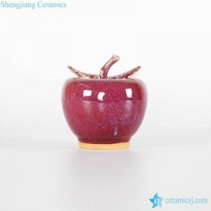 RZFW09    Red apple style ceramic figurine for interior decor