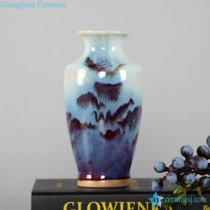 RZFW11-16 Transitional glaze red light blue mixed style fantastic ceramic vase