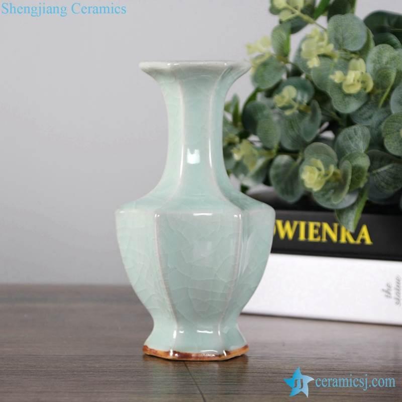 plain color green vase