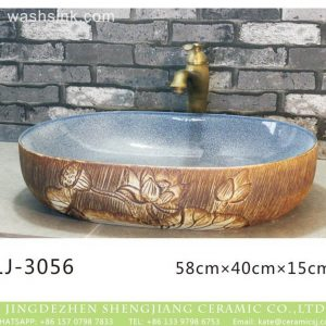 LJ-3056 Jingdezhen Sanitary Ware Porcelain Bathroom glaze Wash Basin Sink