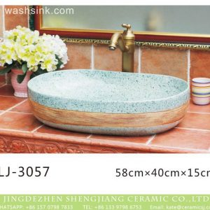 LJ-3057 Jingdezhen Sanitary Ware Porcelain Bathroom glaze Wash Basin Sink