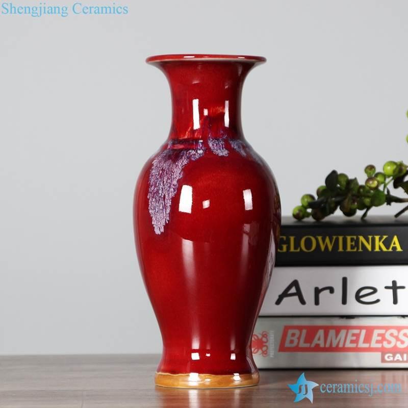 oxblood glaze vase