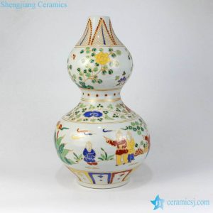 RZLV01 05 Korean royal style old fashioned stoneware flower vase