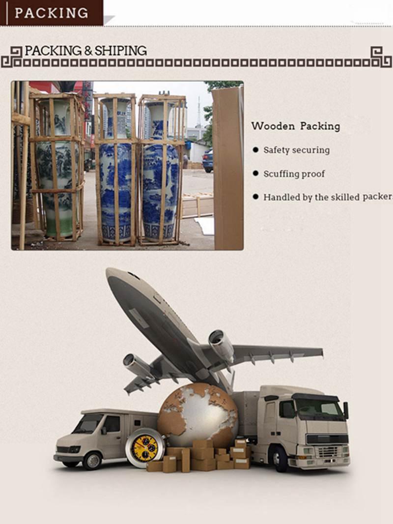 Large chinese ceramic vase Packing&Shipping