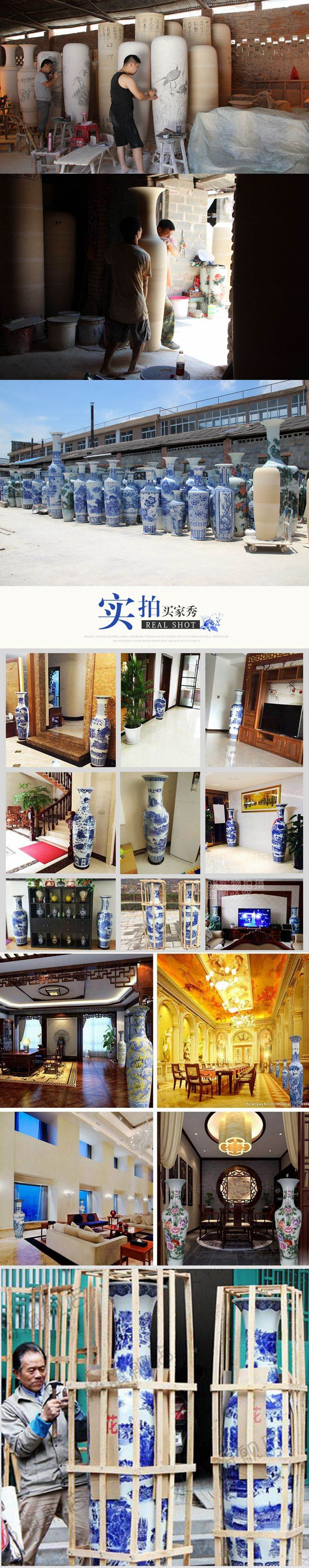 large tall ceramic floor vase for home decor