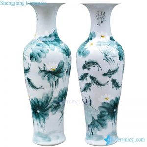 BV-90 wholesales chinese Blue chinese pattern tall porcelain vase