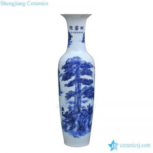 BV-91 wholesales chinese Blue and white chinese pattern tall porcelain vase