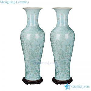 BV-105 wholesales antique chinese glossy tall porcelain flower vase