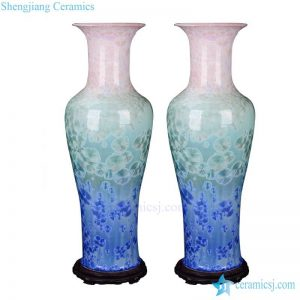 BV-106 wholesales antique chinese Colorful tall porcelain flower vase